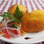 receta de arracacha rellena con pollo carne