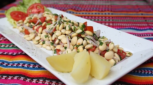 Tarwi ceviche alimentos andinos orgánicos