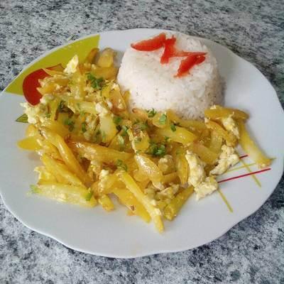 Olluco's Arrebozado with Eggs recipe