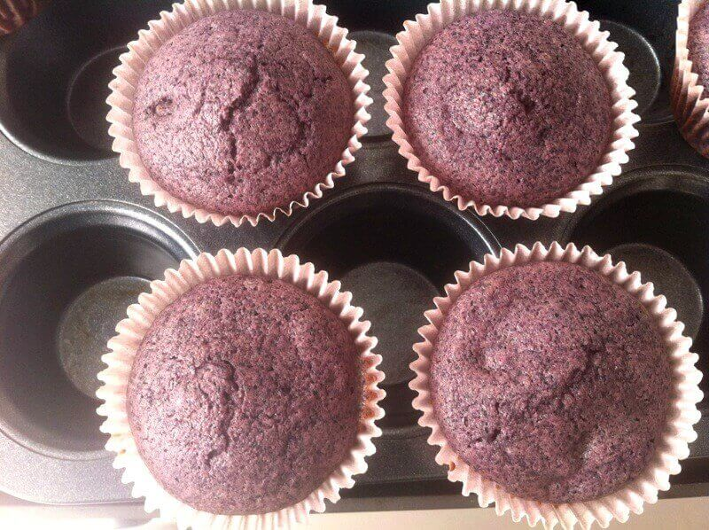 muffins de maíz morado 1