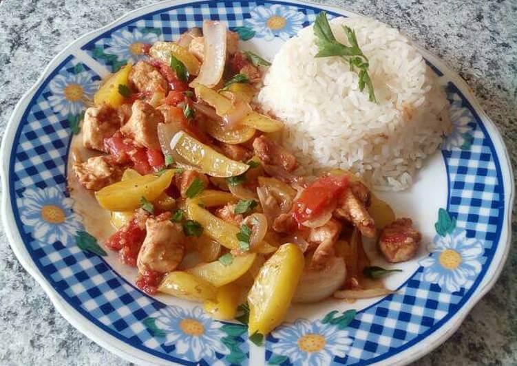Olluco of Saltado with Chicken