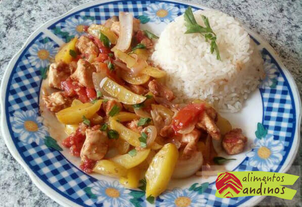 Olluco of Saltado with Chicken